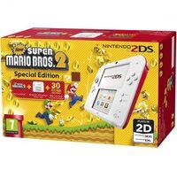 Игровая Приставка Nintendo 2DS Белый / Красный + Игра New Super Mario Bros. 2