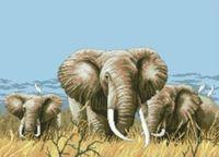 """Канва с нанесенным рисунком """"Три слона"""""""