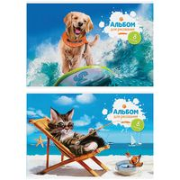 """Альбом для рисования """"Pet's Vacation"""" (А4; 8 листов; в ассортименте)"""