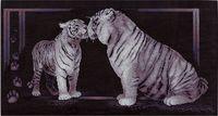 """Вышивка крестом """"Тигриная любовь"""" (585х305 мм)"""