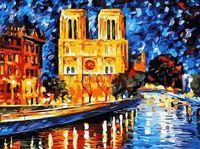 """Картина по номерам """"Собор Парижской Богоматери"""" (400х500 мм)"""