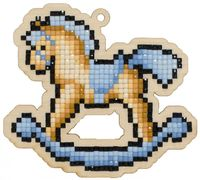 "Алмазная вышивка-мозаика ""Брелок. Лошадка-качалка"" (101х91 мм)"