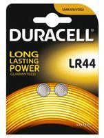 Батарейка DURACELL алкалиновая для электронных приборов 1.5V LR44 (2 штуки)