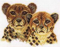 """Вышивка крестом """"Леопарды"""""""