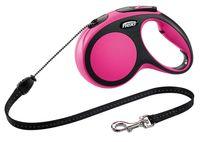 """Поводок-рулетка для собак """"New Comfort"""" (розовый, размер M, до 20 кг/5 м)"""