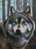 "Алмазная вышивка-мозаика ""Волк"" (300х400 мм)"