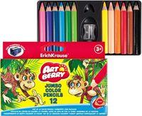 """Цветные карандаши """"Artberry. Jumbo"""" (12 цветов; короткие, с точилкой)"""
