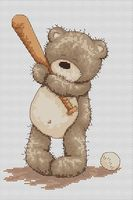 """Вышивка крестом """"Медвежонок Бруно"""" (135х200 мм)"""