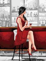 "Картина по номерам ""Девушка с бокалом"" (300х400 мм; арт. PC3040061)"
