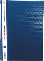 """Папка с файлами """"Diamond"""" (A4; 100 файлов; синяя)"""