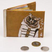 """Зажим для денег с монетницей """"Сова"""""""
