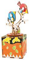 """Сборная деревянная модель """"Музыкальная шкатулка. Птички"""""""