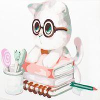 "Картина по номерам ""Котенок знайка"" (250x250 мм; арт. MB056)"