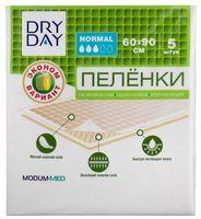 """Пеленки одноразовые детские """"DryDay. Normal"""" (5 шт.; 600х900 мм)"""