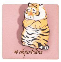"""Значок-пин """"Недовольный тигр"""" (арт. 733)"""