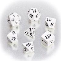 """Набор кубиков """"Классика"""" (7 шт.; бело-черный)"""