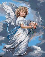 """Картина по номерам """"Ангел с букетом"""" (400х500 мм; арт. PC4050195)"""