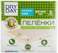 """Пеленки одноразовые детские """"DryDay. Normal"""" (5 шт.; 600х600 мм)"""