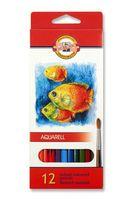 Акварельные карандаши (12 цветов)