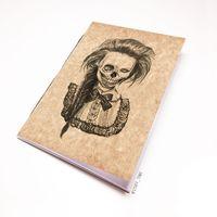 """Блокнот крафт """"Девушка-скелет"""" А7 (арт. 750)"""