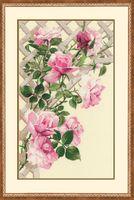 """Вышивка крестом """"Розовые розы"""""""