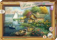 """Картина-аппликация """"Тихое озеро"""""""