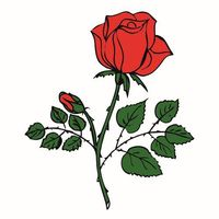 """Картина из песка """"Роза"""" (210х290 мм)"""