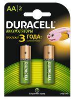 Аккумуляторы DURACELL никель-металлгидридные AA HR6 1300mAh (2 штуки)