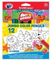 """Набор карандашей цветных """"Artberry. Jumbo"""" (12 цветов)"""