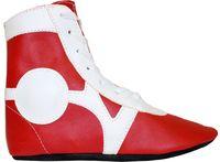 Обувь для самбо SM-0102 (р.45; кожа; красная)