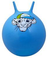 """Мяч-попрыгун """"Тигрёнок"""" (55 см; с рожками; синий)"""