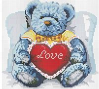 """Алмазная вышивка-мозаика """"Медвежонок с сердцем"""" (300х300 мм; арт. 251-ST-S)"""