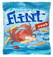 """Сухарики пшенично-ржаные """"Flint. Краб"""" (35 г)"""