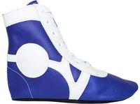 Обувь для самбо SM-0102 (р.32; кожа; синяя)