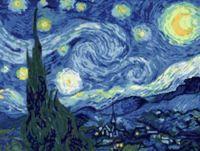 """Вышивка крестом """"Ван Гог. Звездная ночь"""" (300х390)"""