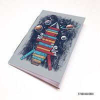 """Блокнот белый """"Ракета из книг"""" А7 (986)"""