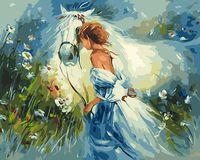 "Картина по номерам ""Девушка с лошадью"" (400х500 мм; арт. PC4050208)"