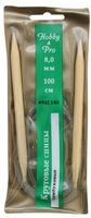 Спицы для вязания круговые (бамбук/пластик; 8 мм)