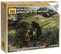 """Набор миниатюр """"Британская 40-мм противотанковая пушка QF с расчетом"""" (масштаб: 1/72)"""