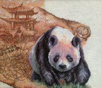 """Вышивка крестом """"Королевская панда"""" (360x320 мм)"""