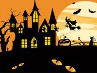 "Картина по номерам ""Хэллоуинская ведьма"" (165х130 мм)"