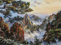 """Алмазная вышивка-мозаика """"Китай. Хуаншань"""" (300х400 мм)"""