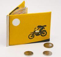 """Зажим для денег с монетницей """"Мотоциклист"""""""