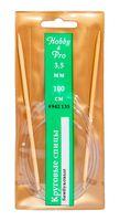 Спицы круговые для вязания (бамбук; 3,5 мм; 100 см)