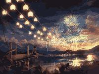 "Картина по номерам ""Ночной фейерверк"" (400х500 мм)"