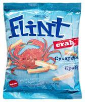 """Сухарики пшенично-ржаные """"Flint. Краб"""" (70 г)"""