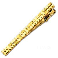 Заколка для галстука (65 мм, цвет: золотой, с гравировкой, 10-7986)
