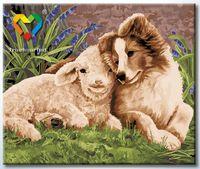 """Картина по номерам """"Лучшие друзья"""" (500x600 мм; арт. HB5060013)"""