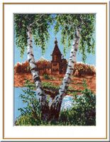 """Вышивка крестом """"Церковь св. Клементия в Кижах"""" (240x330 мм)"""