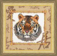 """Вышивка бисером """"Уссурийский тигр"""" (250х250 мм)"""